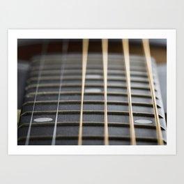 Guitar String Abstract 2 Art Print