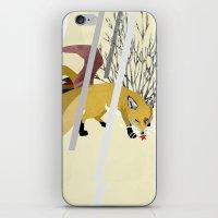 kitsune iPhone & iPod Skins featuring Kitsune by ravenguerrero