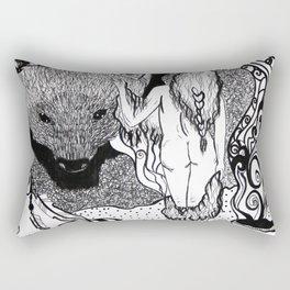 Bear Bride Rectangular Pillow