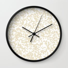 Small Spots - White and Pearl Brown Wall Clock