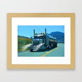 On the Highway Home Framed Art Print