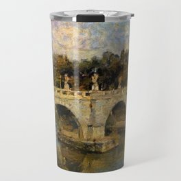 French Impressionistic Arched Bridge Travel Mug