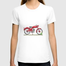 Motorcycle wintage red T-shirt