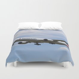American Airlines Boeing 777 Duvet Cover