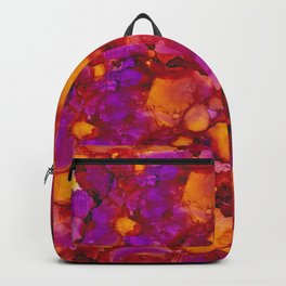 Happy spring - Alcohol ink drawing Backpack
