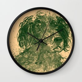Hunter Dog pale Wall Clock