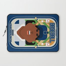 Baseball Blue Pinstripes - Deuce Crackerjack - Aretha version Laptop Sleeve