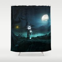 marauders Shower Curtains featuring Witch at THE NIGHTMARE by alexa