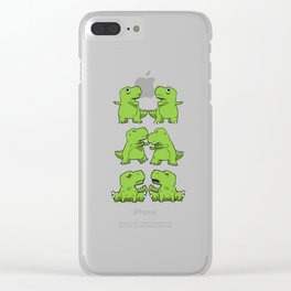 T-Rex Fusion Short Arms Dino funny gift Clear iPhone Case