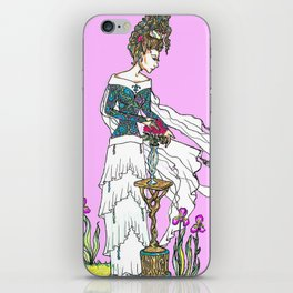 Princess with a Gift of Roses iPhone Skin