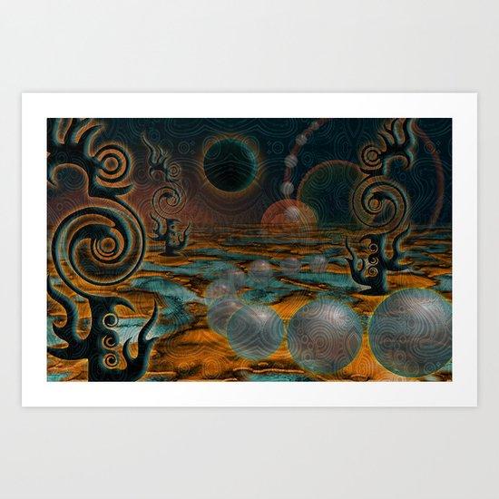 The Black Moon Art Print