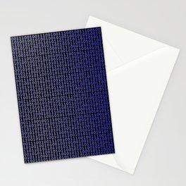 Binary Blue Stationery Cards