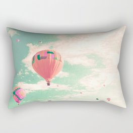 Pink nursery hot air balloons Rectangular Pillow