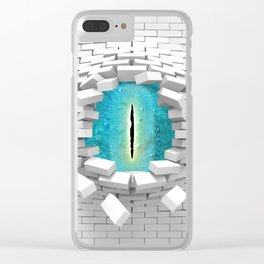 behind walls Clear iPhone Case