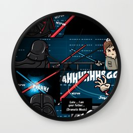 Matrioska Wars / I am your father scene Wall Clock