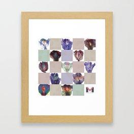 Vagina Portrait Quilt Framed Art Print