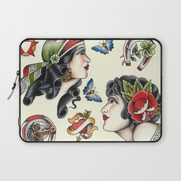 Vintage style tattoo design sheets by Sebastian Orth Laptop Sleeve
