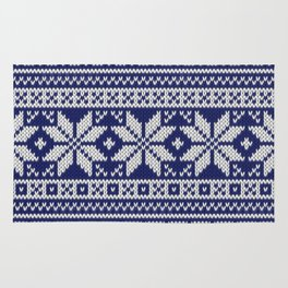 Winter knitted pattern 2 Rug