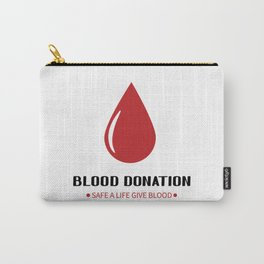 Blood donation lettering  Carry-All Pouch
