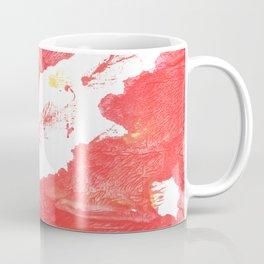Coral red abstract Coffee Mug