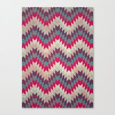 Chevron pattern_purple, blue and pink Canvas Print