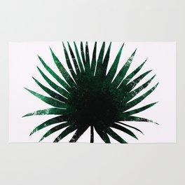 Round Palm Leaf Rug