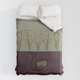 Field Mouse + Northern Sea Oats Duvet Cover