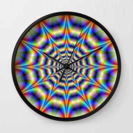 Psychedelic Wheel Wall Clock
