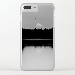 Mound Hood Reflection II Clear iPhone Case