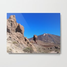 mountain and rock formations tenerife Metal Print