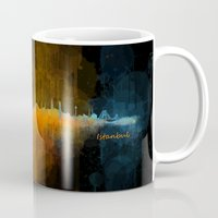 islam Mugs featuring Istanbul City Skyline Hq v4 by HQPhoto