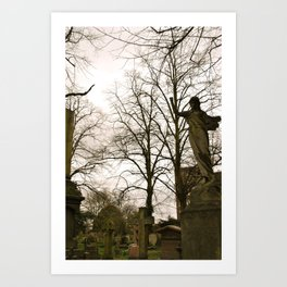West Brompton Cemetary in London Art Print