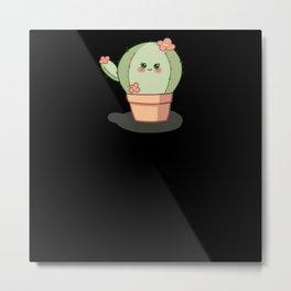 Sweet Little Cactus Metal Print