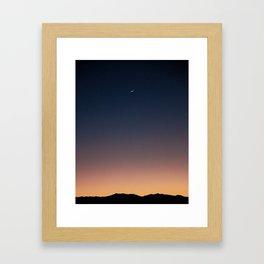 Crescent Moon, Joshua Tree Framed Art Print