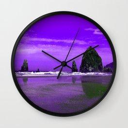 Oregon Coast Abstract Wall Clock