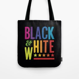 Colorful Black and White Tote Bag