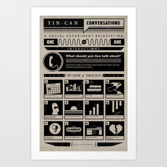 Tin Can Conversations Poster Art Print