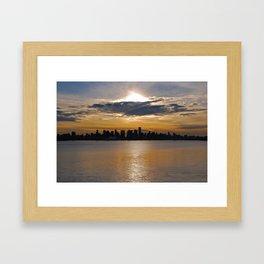 Downtown Sunset Framed Art Print