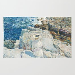 The South Ledges, Appledore - Childe Hassam Rug