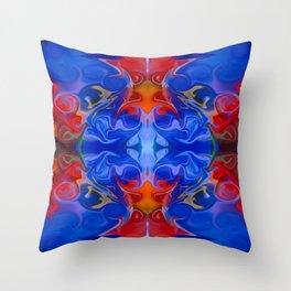 Blue Beginnings Abstract Pattern Artwork  Throw Pillow