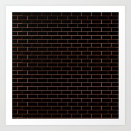 Black Wall Art Print