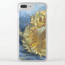 Two Sunflowers Clear iPhone Case