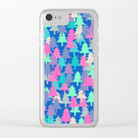 Colorful fir pattern II Clear iPhone Case