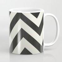 minimalist Mugs featuring Twin Peaks Minimalist Poster by Kristjan Lyngmo