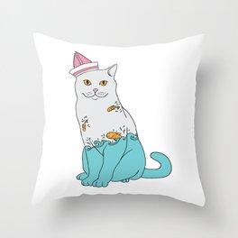 Inside Kitty Throw Pillow