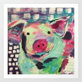 This little piggy is Wilbur Art Print