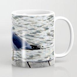 Seagull on dock Coffee Mug