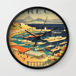 Vintage poster - Grece Wall Clock