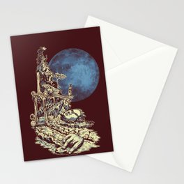 Moonlit Tower Stationery Cards