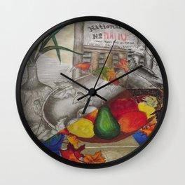 Fall Still Life Wall Clock